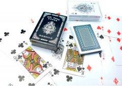 Карты игральные Duke Wei Kang Poker пластик, в пластиковом боксе, 54 листа 9.5х6.5х2.4 см Синие (DN24970BL)