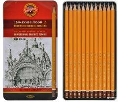 Набор карандашей чернографитных Koh-i-Noor Art 8В-2Н кедр 12 шт (1502.II)