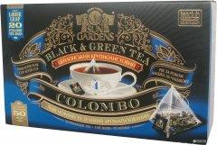 Чай черный Sun Gardens и зеленый Colombo 20 пакетиков-пирамидок по 2.5 г 50 г (4820082707446)