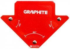 Магнитный угольник Graphite 82 x 120 x 13 мм (56H901)