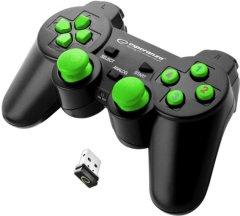 Беспроводной геймпад Esperanza Gladiator PC/PS3 Black/Green (EGG108G)