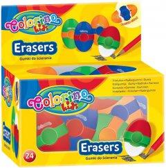 Набор Colorino из 24 ластиков овальных двухсторонних (65283PTR) (5907690865283)