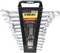Набор ключей рожково - накидных Sigma 12 предметов 6 - 22 мм CrV (6010201)