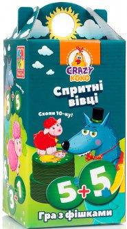 Игра настольная Vladi Toys Crazy Koko Шустрые овцы. Хватай 10-ку! (Укр) (VT8033-03)