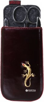 Чехол для ножниц и пинцетов Red Point Prime Ящерица Бордо (КП.03.К.04.01.026)