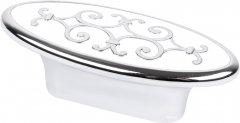 Мебельная ручка Bosetti Marella D 24134.32 Хром с белым (VR44479)
