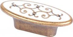 Мебельная ручка Bosetti Marella D 24134.32 Античная Бронза с белым (VR44481)