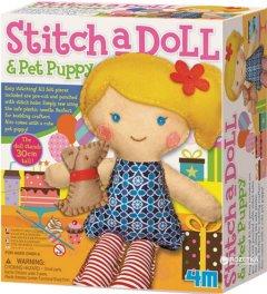 Набор для шитья игрушки 4M Кукла со щенком (00-02767)