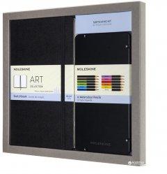 Подарочный набор Moleskine Art Скетчбук 13 х 21 см 104 страницы без линовки + 12 Цветных Акварельных Карандашей (8058647620404)
