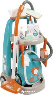 Игровой набор Smoby Toys Тележка с пылесосом и аксессуарами (330309) (3032163303091)