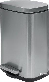Ведро для мусора SPIRELLA Akira 30х21.4 см с педалью серебристое (10.19833)