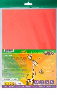 Набор цветной бумаги Zibi А4 Неоновый 5 листов 5 цветов (ZB.1910)