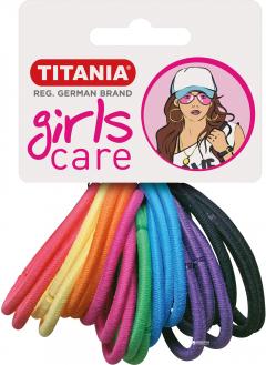 Набор резинок для волос Titania 7890 Разноцветные 4 см Girl 20 шт (7890 GIRL)