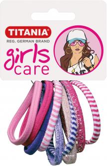 Набор резинок для волос Titania 7821 Разноцветные 4 см Girl 9 шт (7821 GIRL)