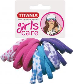Набор резинок для волос Titania 7826 Разноцветные 4 см Girl 6 шт (7826 GIRL)
