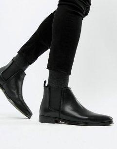 Чоловічі демісезонні шкіряні черевики челсі Asos 44 чорний