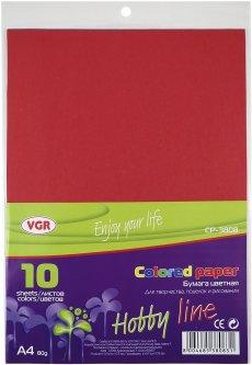 Набор цветной бумаги двухсторонний VGR 80 г/м² А4 10 листов 10 цветов (Я17556_CP-3808)