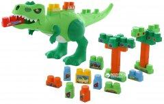 Набор Molto Polesie Динозавр + конструктор 30 элементов (67807) (4810344067807)