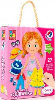 Настольная игра Vladi Toys Магнитная одевашка Соня (Укр) (VT3702-07)