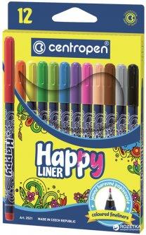 Набор лайнеров Centropen Happy Liners 0.4 мм 12 шт 12 цветов (2521)