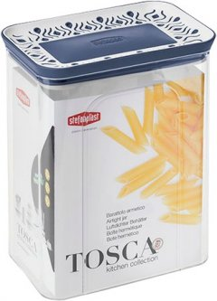 Емкость для хранения сыпучих продуктов Stefanplast Tosca 2.2 л Бело-голубая (55651)