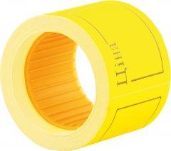 Этикет-лента Economix 50 x 40 мм 100 шт/уп Желтая (E21307-05)
