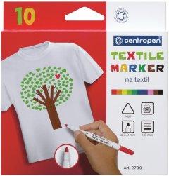 Набор специальных маркеров для текстиля Centropen Textile 1.8 мм 10 шт (2739.10)