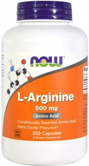 Аминокислота Now Foods L-Аргинин 500 мг 250 капсул (733739000316)