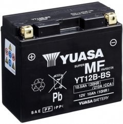 Мото аккумулятор Yuasa 12V 10.5Ah MF VRLA Battery YT12B-BS (сухозаряжений) (YT12B-BS)