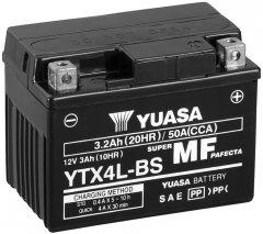 Мото аккумулятор Yuasa 12V 3Ah MF VRLA Battery AGM YTX4L-BS (сухозаряжений) (YTX4L-BS)