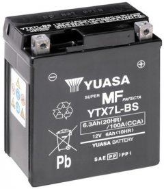 Мото аккумулятор Yuasa 12V 6Ah MF VRLA Battery AGM YTX7L-BS (сухозаряжений) (YTX7L-BS)