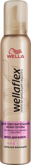 Мусс для волос Wella Wellaflex для чувствительной кожи головы сильной фиксации 200 мл (8699568541760)