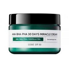 Крем Some By Mi AHA/BHA/PHA 30 Days Miracle Cream для лица для проблемной кожи с комплексом кислот 60 мл