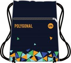 Сумка для обуви Сool For School Polygonal Черная с рисунком (CF85743) (4044572857439)