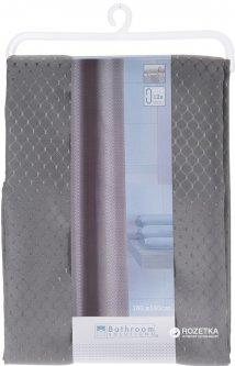 Шторка для ванной Bathroom solutions Ромбы 180x180 см Серая (CY2210430_gray)