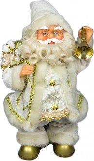 Фигурка Дед Мороз mag-2000 музыкальный танцующий с колокольчиком 36 см Белый (230174) (5102681230174)