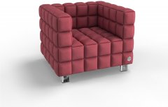 Мягкое кресло Kulik System NEXUS 1 Коралловый (NEXUS_6101_M1_MC_0514)