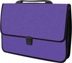 Портфель Economix на застежке фактура Вышиванка Фиолетовый (E31641-12)