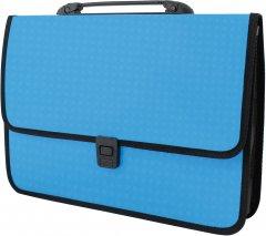 Портфель Economix на застежке фактура Вышиванка Голубой (E31641-11)
