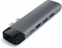 USB-хаб Satechi Aluminum Type-C Pro Hub Adapter with Ethernet Space Gray (ST-TCPHEM)