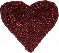 Елочная игрушка Christmas Decoration Heart 13.5x13x5 см Red (A04427710_heart)