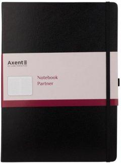 Книга записная Axent Partner Grand 295х210 мм A4 100 листов в клетку Черная (8203-01-А)