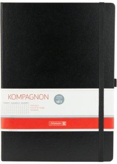 Записная книга Вrunnen Компаньйон А4 в клетку 96 листов Черная (10-552 88 05)