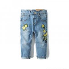 Джинси для дівчинки Жовті квіточки Star Place (104) Блакитний (47822)