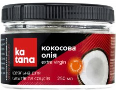 Кокосовое масло Katana Extra Virgin Coconut Oil 250 мл (4820181990411)