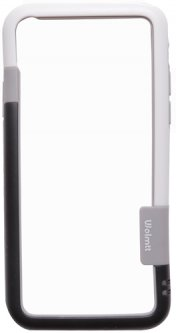 Бампер Drobak PU для Apple iPhone Xs Black/White (449001)