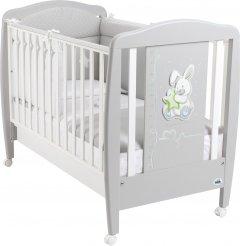 Детская кроватка CAM Coniglio с выдвижным ящиком Бело-серая (G252) (8005549050372)