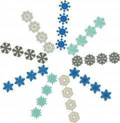 Набор елочных игрушек Jumi Снежинки 36 шт (693654)(5900410693654)
