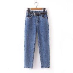 Джинси жіночі mom jeans з поясом Sea Berni Fashion (XL) Синій (55858)