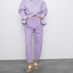 Джинси жіночі slouchy Lilac, фіолетовий Berni Fashion (38) Фіолетовий (55840)